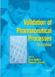 Validation of Pharmaceutical Processes width=